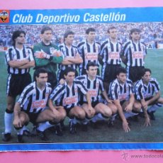 Collectionnisme sportif: MINI POSTER CD CASTELLON LIGA 90/91 - AS COLOR ALINEACION TEMPORADA 1990/1991 FUTBOL. Lote 47059697