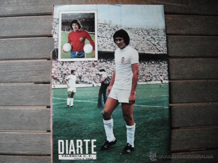 POSTER AS COLOR 1/2 PAGINA. DIARTE (VALENCIA C.F.). AÑOS 70´ (Coleccionismo Deportivo - Carteles de Fútbol)