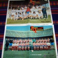 Coleccionismo deportivo: REVISTA PUEBLO QUINIELAS ATLÉTICO DE MADRID Y REAL VALLADOLID. AÑO 1970. BUEN ESTADO.. Lote 47091091