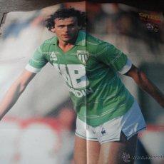 Coleccionismo deportivo: POSTER ONZE. PLATINI (ST.ETIENNE). AÑOS 1978/79. AL DORSO ROCHETEAU (P.S.G.).. Lote 47156537