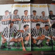 Coleccionismo deportivo: POSTER GUERIN SPORTIVO. JUVENTUS TURIN (CAMPEON DE LA UFEFA) 1989-90. . Lote 47168542