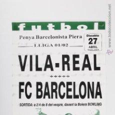 Coleccionismo deportivo: POSTER PENYA PIERA VILA - REAL FC BARCELONA 2001-2002 CAIXA PENEDES. Lote 47238028