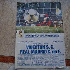 Collectionnisme sportif: POSTER REAL MADRID-VIDEOTON,22 MAYO 75 39X28 CMS. Lote 145038292