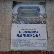 Coleccionismo deportivo: POSTER REAL MADRID -BARCELONA ENERO 95. Lote 47504504