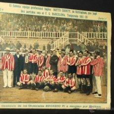 Coleccionismo deportivo: CARTEL POSTER EQUIPO NOTTS COUNTY DE NOTTINGHAM TEMPORADA 1921-22 CHOCOLATES EDUARDO PI. Lote 47573117