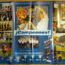Coleccionismo deportivo: POSTER REAL ZARAGOZA CAMPEON DE COPA DEL REY 2001. Lote 48199443