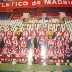 Coleccionismo deportivo: POSTER DEL ATLETICO DE MADRID TEMPORADA DEL DOBLETE. Lote 26686200