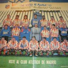 Coleccionismo deportivo: POSTER DEL ATLETICO DE MADRID 93/94 FIRMADO. Lote 26686206