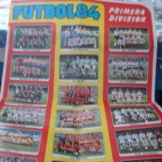 Coleccionismo deportivo: EXTRAORDINARIO CARTEL POSTER FUTBOL 84 PANINI MARADONA BARCELONA ÚNICO EN TODOCOLECCION. LEER. Lote 48623562