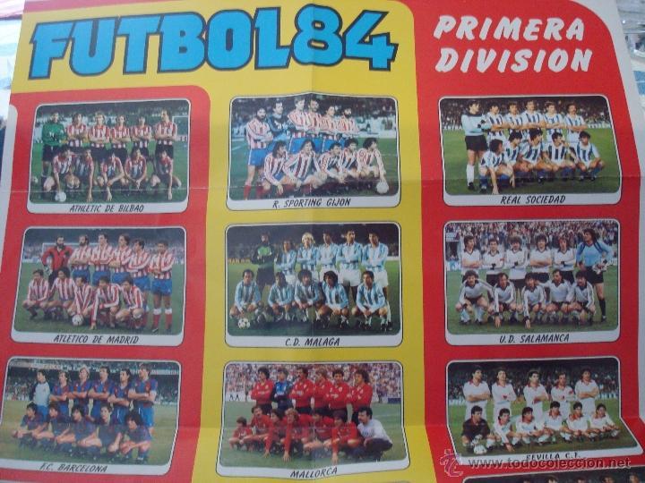 Coleccionismo deportivo: EXTRAORDINARIO CARTEL POSTER FUTBOL 84 PANINI MARADONA BARCELONA ÚNICO EN TODOCOLECCION. LEER - Foto 2 - 48623562