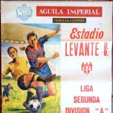 Coleccionismo deportivo: CARTEL PUBLICIDAD FUTBOL ESTADIO LEVANTE UD OSASUNA 1979 CERVEZA AGUILA IMPERIAL VALENCIA (50). Lote 48740955