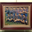 Coleccionismo deportivo: PÓSTER F.C. BARCELONA – TEMPORADA 1984/85 CON MARCO. Lote 48853483