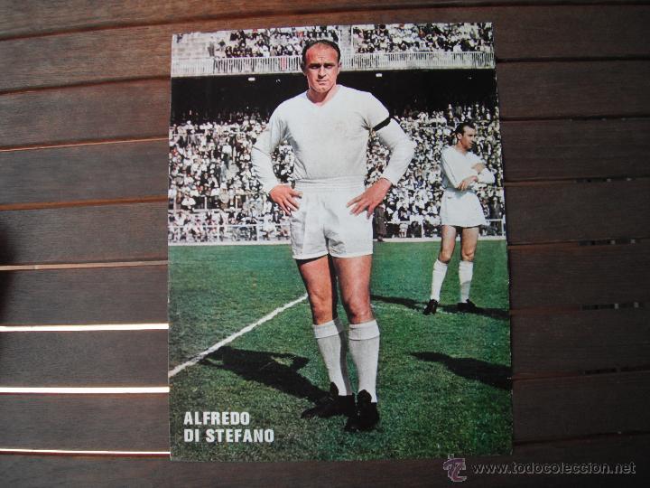 POSTER AS COLOR 1/2 PAGINA. ALFREDO DI STEFANO (REAL MADRID). (Coleccionismo Deportivo - Carteles de Fútbol)