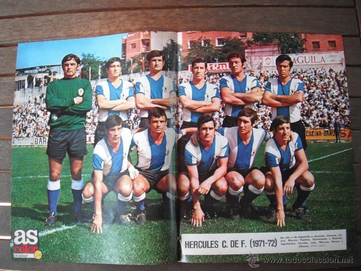 POSTER AS COLOR Nº 34. HERCULES C.F. AÑOS 71-72. (Coleccionismo Deportivo - Carteles de Fútbol)