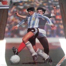 Coleccionismo deportivo: POSTER GUERIN SPORTIVO. MARADONA (AL DORSO ZICO). AÑOS 80'. . Lote 48934835