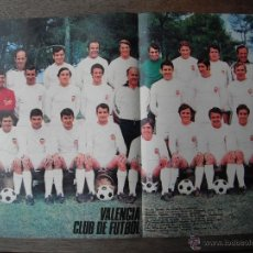 Coleccionismo deportivo: POSTER AS COLOR Nº 4. VALENCIA C.F. AÑO 1971.. Lote 48940285