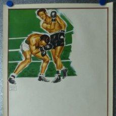 Coleccionismo deportivo: PRECIOSO CARTEL BOXEO SIN IMPRIMIR - AÑO 1963. Lote 194670835