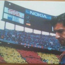 Coleccionismo deportivo: POSTER FIGO FC BARCELONA - SPORT 80 X 60 ESTRELLAS BLAUGRANA. Lote 219295227