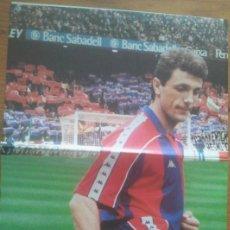 Coleccionismo deportivo: POSTER POPESCU FC BARCELONA - ESTRELLAS BLAUGRANA SPORT 80 X 60. Lote 219295291