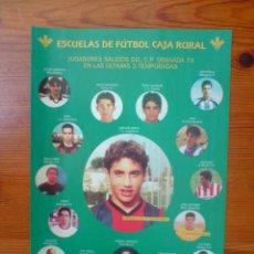 Coleccionismo deportivo: CARTEL ESCUELAS DE FÚTBOL , C.P. GRANADA 74. TEMPORADA 2002-03.FOTOS JUGADORES SALIDOS DE LA CANTERA. Lote 50111508