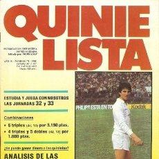 Coleccionismo deportivo: QUINIELISTA. Nº70. CON PÓSTER DEL VALENCIA C. F. 84 - 85. VER FOTO.. Lote 50174696