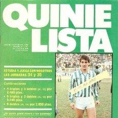 Coleccionismo deportivo: QUINIELISTA. Nº71. CON PÓSTER DEL REAL BETIS BALOMPIÉ. 84 - 85. VER FOTO.. Lote 50174752