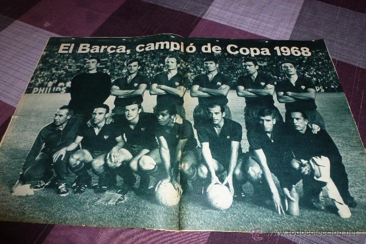 POSTER (36 X 56 CM) F.C.BARCELONA CAMPEÓN COPA 1968-FINAL BOTELLAS-(S. BERNABEU)R.MADRID 0 BARÇA 1 (Coleccionismo Deportivo - Carteles de Fútbol)