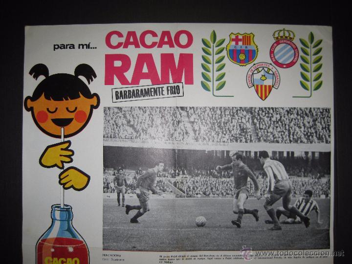 Coleccionismo deportivo: CARTEL EQUIPOS CATALANES AÑO 1966 - PUBLICIDAD CACAO RAM - MIDE 39 X 55 CM. - Foto 2 - 50651438