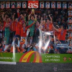 Coleccionismo deportivo: GRAN POSTER DE LA SELECCION ESPAÑOLA CAMPEONES DEL MUNDO. Lote 50714049