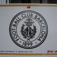 Coleccionismo deportivo: CARTEL / LÁMINA HISTÓRICA BARÇA / FC BARCELONA ** PRIMER ESCUDO ORIGINAL (AÑO 1899) **. Lote 50756283