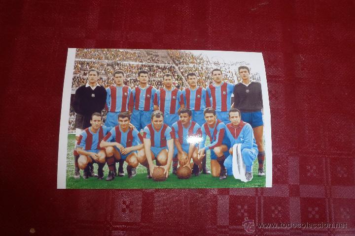 COLOREADA- F.C.BARCELONA TEMP 1960-61 (10CM X 15CM) ALINEACIÓN BARÇA FIRMAS DE JUGADORES-FOTOS (Coleccionismo Deportivo - Carteles de Fútbol)