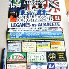 Coleccionismo deportivo: CARTEL PARTIDO CD LEGANES - ALBACETE ESTADIO BUTARQUE 14 - 15 LIGA ADELANTE. Lote 51216424