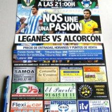 Coleccionismo deportivo: CARTEL PARTIDO CD LEGANES - AD ALCORCON DE MADRID ESTADIO BUTARQUE 14 - 15 LIGA ADELANTE. Lote 51216493