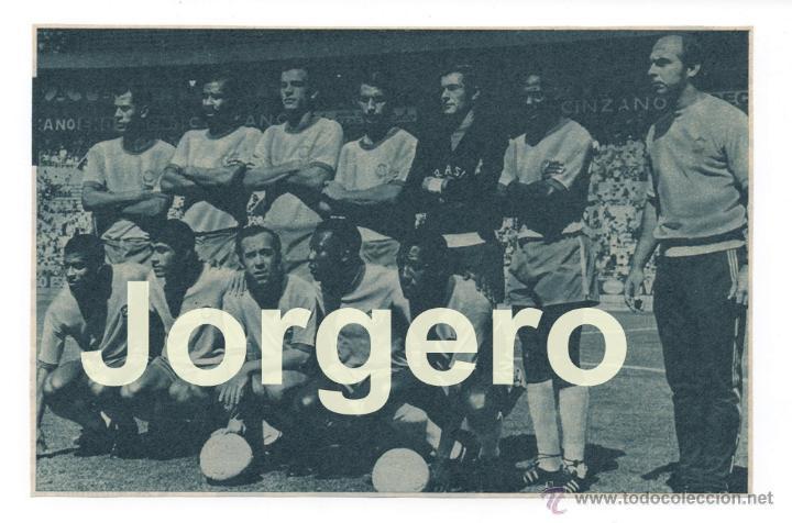 SELECCIÓN DE BRASIL. ALINEACIÓN CAMPEONA DEL MUNDO 1970. RECORTE (Coleccionismo Deportivo - Carteles de Fútbol)