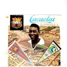 Coleccionismo deportivo: CARTEL C.F. BARCELONA-SANTOS F.C. ESTADIO NOU CAMP. BARÇA. PELE. AÑO 1963. 60 X 44. RARO. Lote 51729139