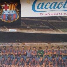 Coleccionismo deportivo: CARTEL C.F. BARCELONA-RCD ESPAÑOL. ESTADIO NOU CAMP. BARÇA. AÑO 1967. 53 X 44. RARO. Lote 51733833