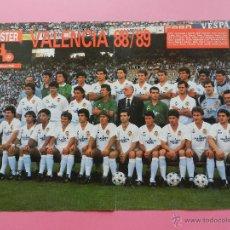 Collectionnisme sportif: POSTER VALENCIA CF 88/89 REVISTA DON BALON ALINEACION LIGA FUTBOL TEMPORADA 1988-1989. Lote 51814905