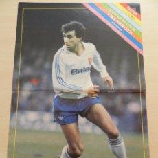 Coleccionismo deportivo: POSTER VILLARROYA (REAL ZARAGOZA) 89/90 LIGA FUTBOL TEMPORADA 1989/1990 REVISTA DON BALON. Lote 51996116