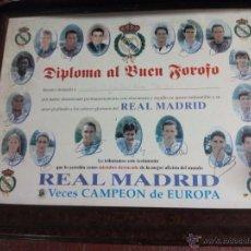 Coleccionismo deportivo: CUADRO CARTEL AL BUEN FOROFO REAL MADRID. Lote 52017029