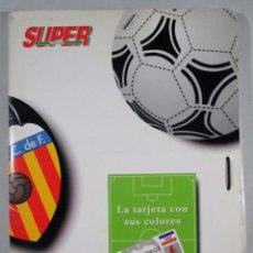 Coleccionismo deportivo: POSTER FÚTBOL , VALENCIA CF , CARPETA , FICHAS , ZUBIZARRETA , ARAGONES , SUPER DEPORTE , 95/96. Lote 52041183