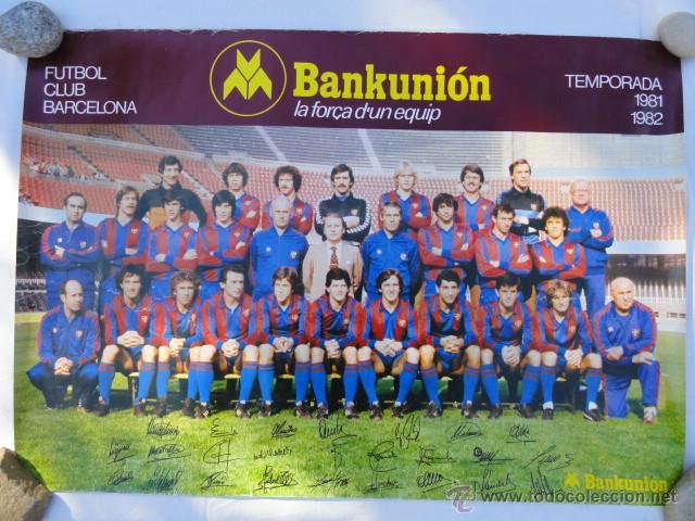 BARÇA - POSTER F.C.BARCELONA TEMPORADA 1981 - 1982. (Coleccionismo Deportivo - Carteles de Fútbol)