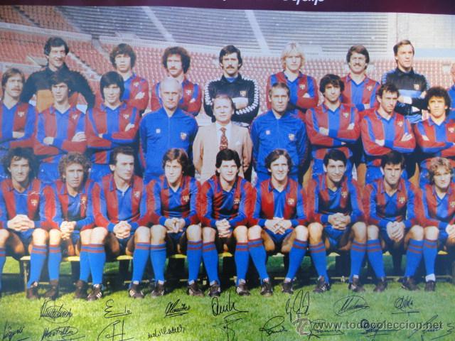 Coleccionismo deportivo: BARÇA - POSTER F.C.BARCELONA TEMPORADA 1981 - 1982. - Foto 2 - 52314068
