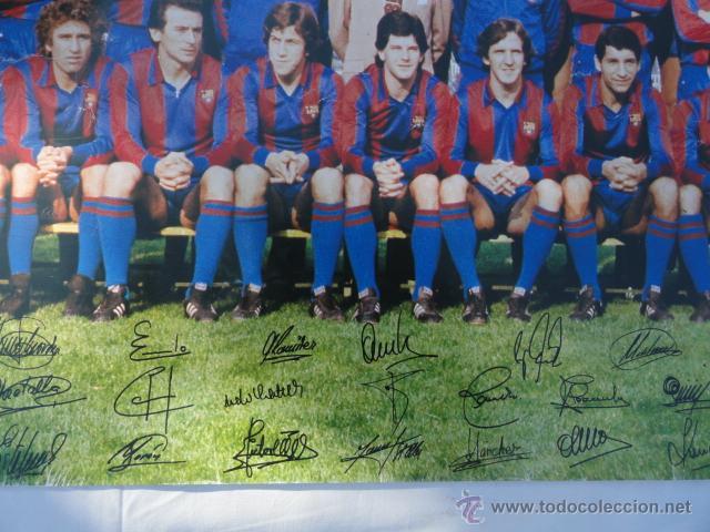 Coleccionismo deportivo: BARÇA - POSTER F.C.BARCELONA TEMPORADA 1981 - 1982. - Foto 3 - 52314068
