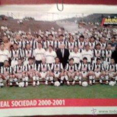 Coleccionismo deportivo: POSTER REAL SOCIEDAD - 2000 \ 2001 - MUNDO DEPORTIVO - 210 X 297 MM. Lote 52329635