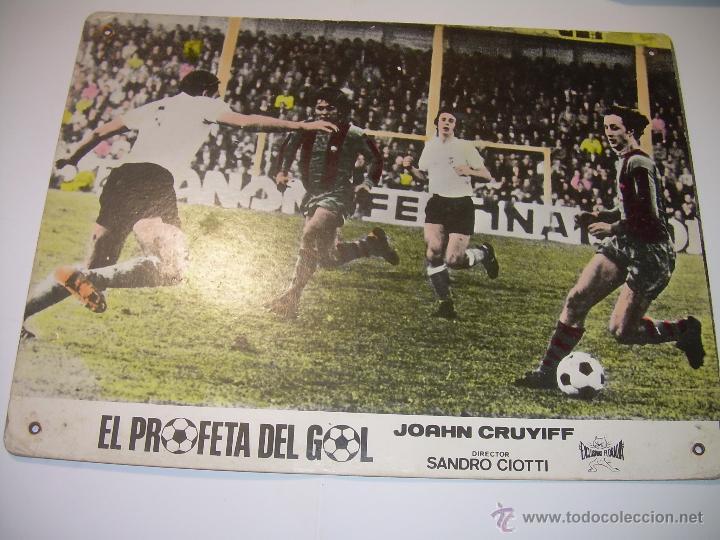 EL PROFETA DEL GOL..VIDA DE JOAHN CRUYFF..CARTEL DE PROPAGANDA DE CINE DE LA PELICULA DEL AÑO 1.975 (Coleccionismo Deportivo - Carteles de Fútbol)