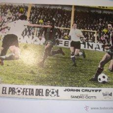 Coleccionismo deportivo: EL PROFETA DEL GOL..VIDA DE JOAHN CRUYFF..CARTEL DE PROPAGANDA DE CINE DE LA PELICULA DEL AÑO 1.975. Lote 52486159
