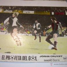 Coleccionismo deportivo: EL PROFETA DEL GOL.VIDA DE JOAHN CRUYFF. CARTEL DE PROPAGANDA CINE DE LA PELICULA DEL AÑO 1.975. Lote 52486350