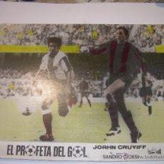 Coleccionismo deportivo: EL PROFETA DEL GOL. VIDA DE JOAHN CRUYFF. CARTEL DE PROPAGANDA DE CINE DE LA PELICULA DEL AÑO.1.975. Lote 52486467
