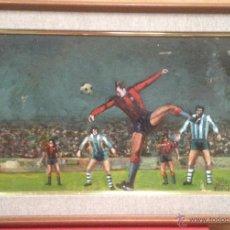Coleccionismo deportivo: CARTEL CUADRO ORIGINAL FUTBOL FC BARCELONA BARÇA JUGADOR JOHAN CRUYFF PINTURA OLEO 1980 MUSEO (7. Lote 52520109