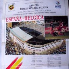Coleccionismo deportivo: CARTEL DE FUTBOL: ESPAÑA - BELGICA. ESTADIO RAMÓN SANCHEZ PIZJUAN. 29 /MARZO/1995 (C/A21). Lote 179214427